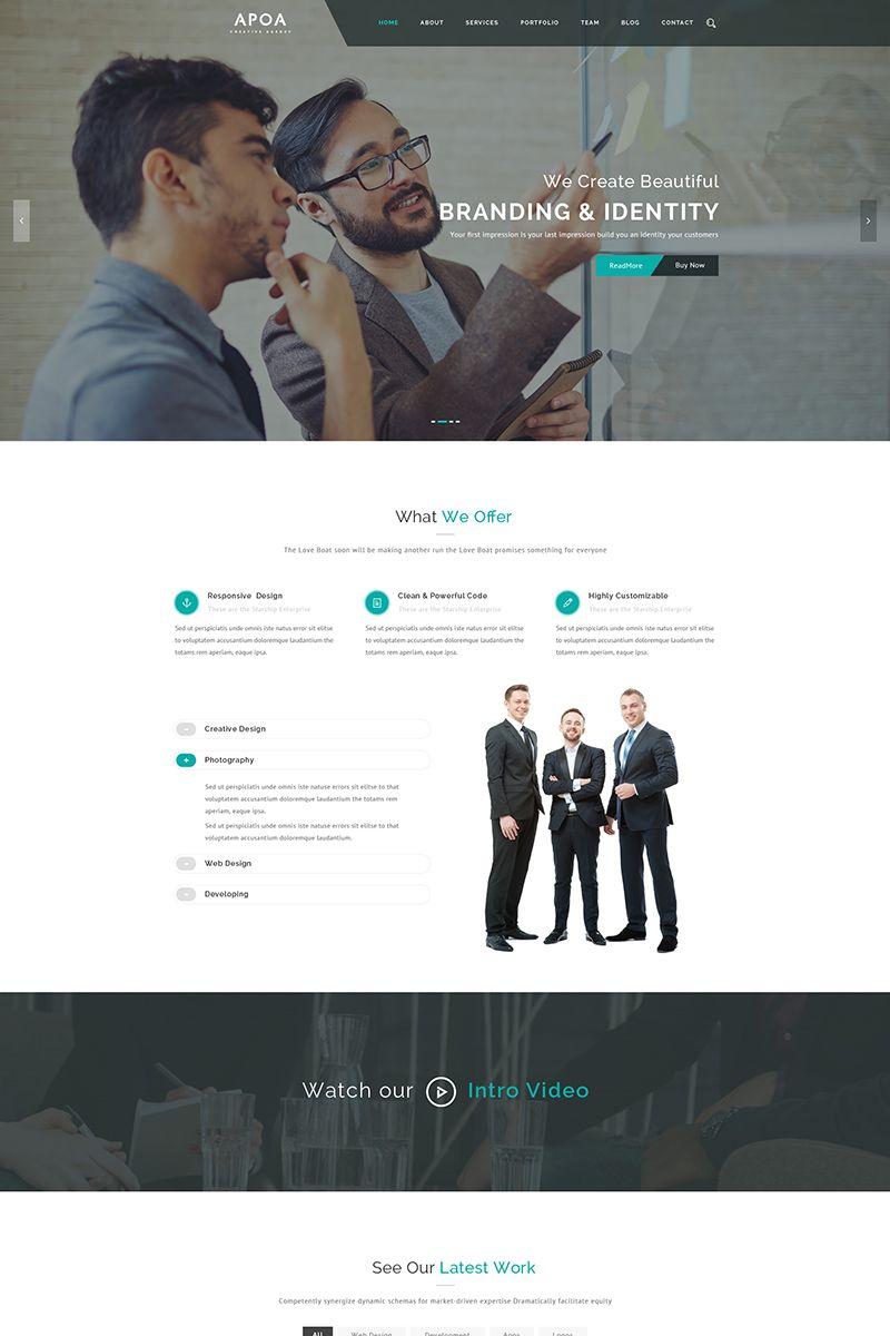 apoa business wordpress theme big screenshot new website