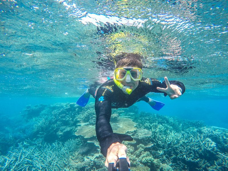 Snorkelling on the Great Barrier Reef in Australia - a must do when you visit Port Douglas!