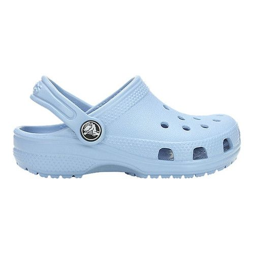 Crocs Kids Classic Clog is part of Crocs classic, Crocs shoes, Girls shoes, Kids shoes, Blue crocs, Cute shoes - The Classic Clog from Crocs is extremely lightweight and fun to wear  This clog is easy to clean  just hose them off  The heel strap offers a more secure fit for little feet  Heel strap Iconic Crocs Comfort™ original Croslite™ foam cushion kids love