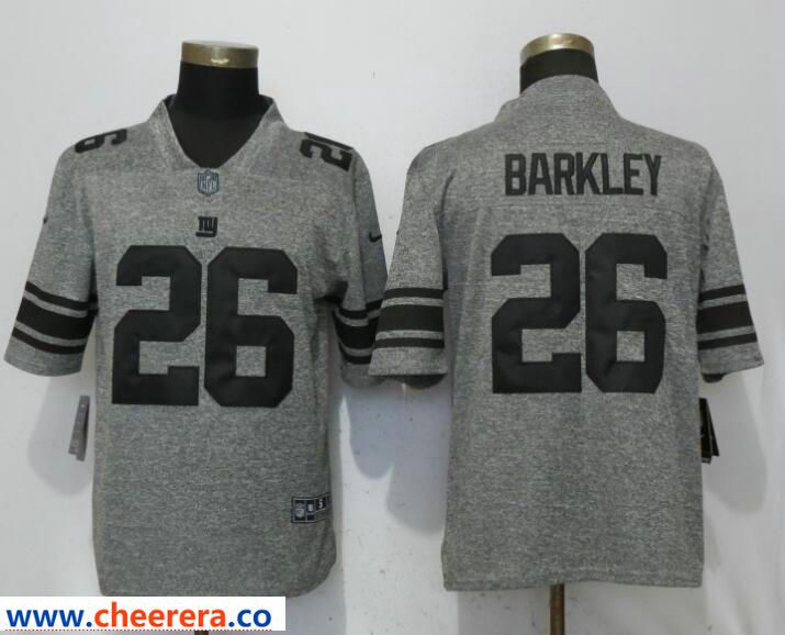 38bf6686d Men's Nike New York Giants #26 Saquon Barkley Gray Vapor Untouchable  Limited Jersey