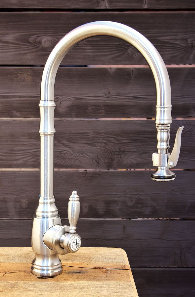 Waterstone Faucets Traditional PLP Pull Down Faucet   FINISH: SATIN NICKEL