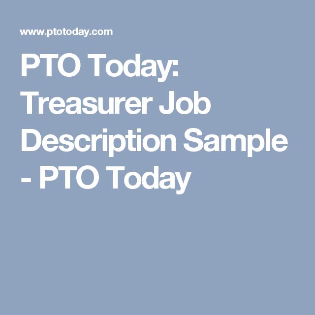 Nice PTO Today: Treasurer Job Description Sample   PTO Today