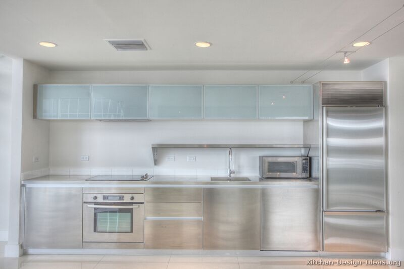 Frosted Glass Cabinet Doors For Modern Pictures Of Kitchens Modern