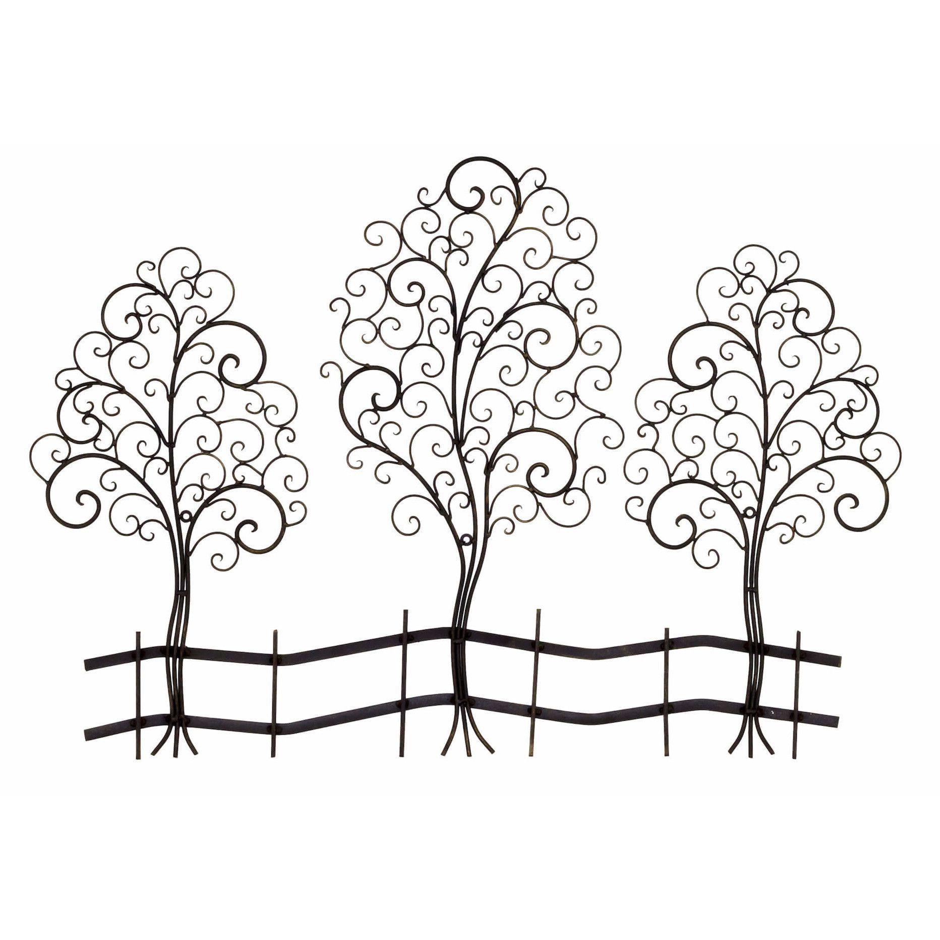 Bayaccents metal tree sculpture wall decor u reviews wayfair