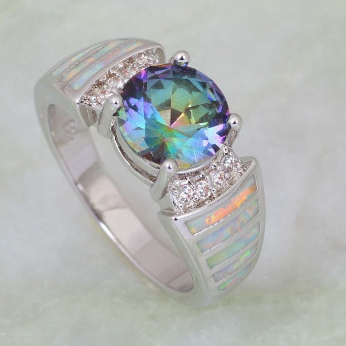 perfection to collections jewelry gunmetal topaz black ring mystic bands fire rings shop