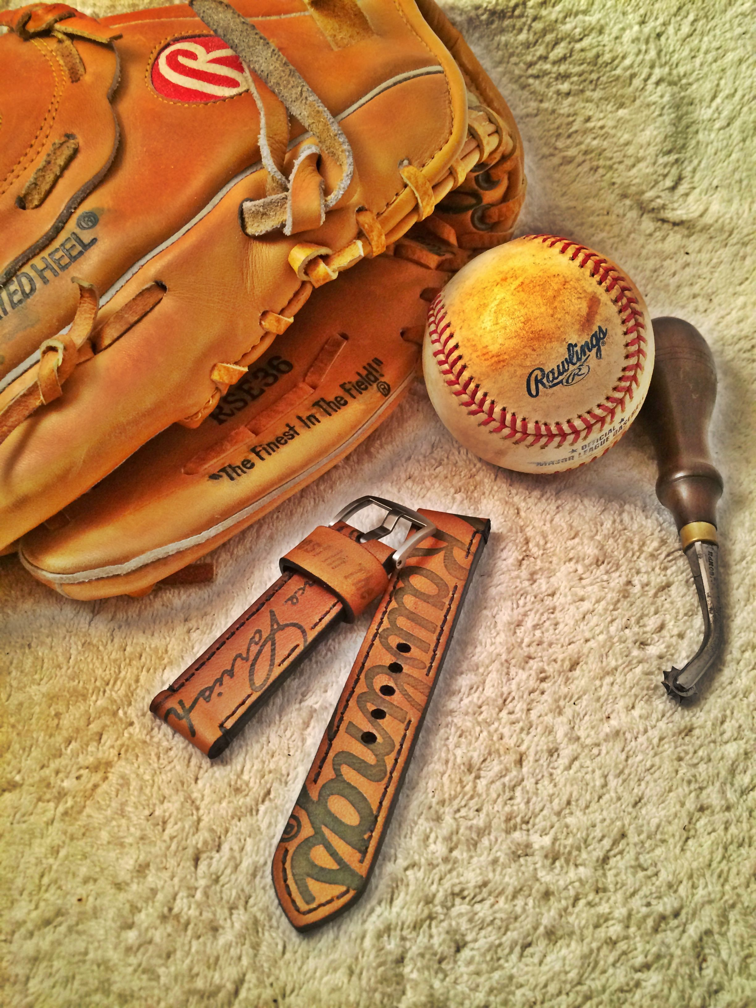 Check Out Our Baseball Glove Strap Watchstrap Madeinamerica Sports Leather Handmade Leather Leather Watch Strap Baseball Glove Wallet