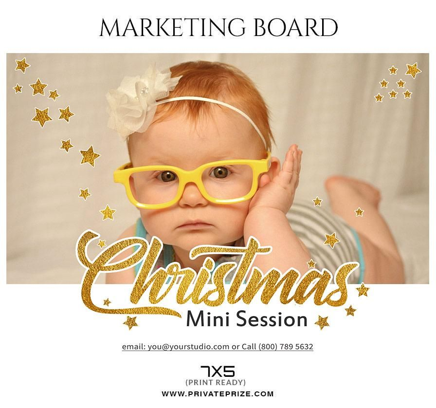 christmas mini session flyer template for photographers flyers