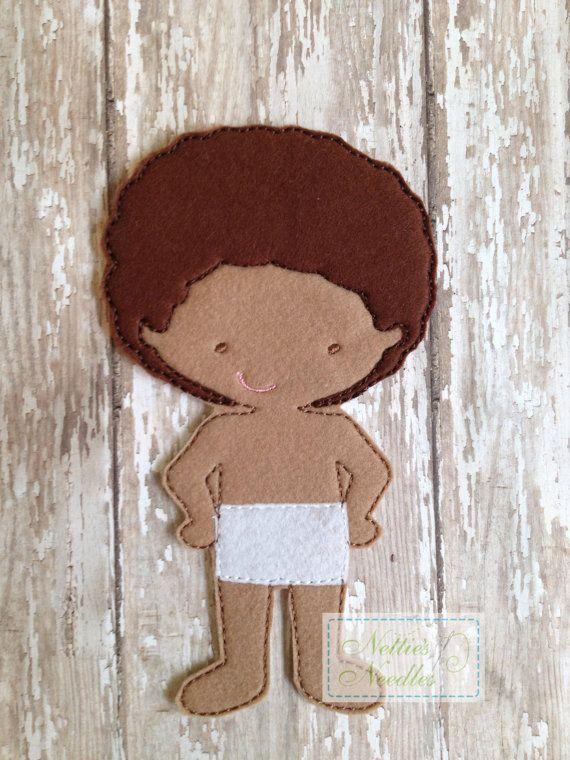 Fieltro muñeca Sheffield por NettiesNeedlesToo en Etsy