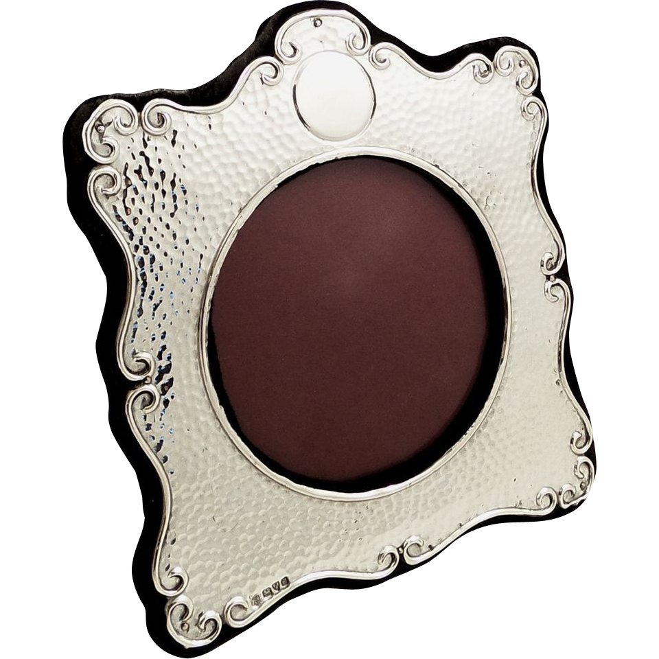 antique edwardian sterling silver photo frame 1905