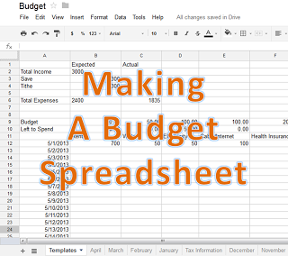 using google doc for an easy budget tool life tips pinterest