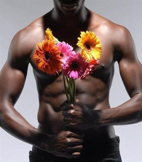 Naked man flowers, nylon pantyhose slut