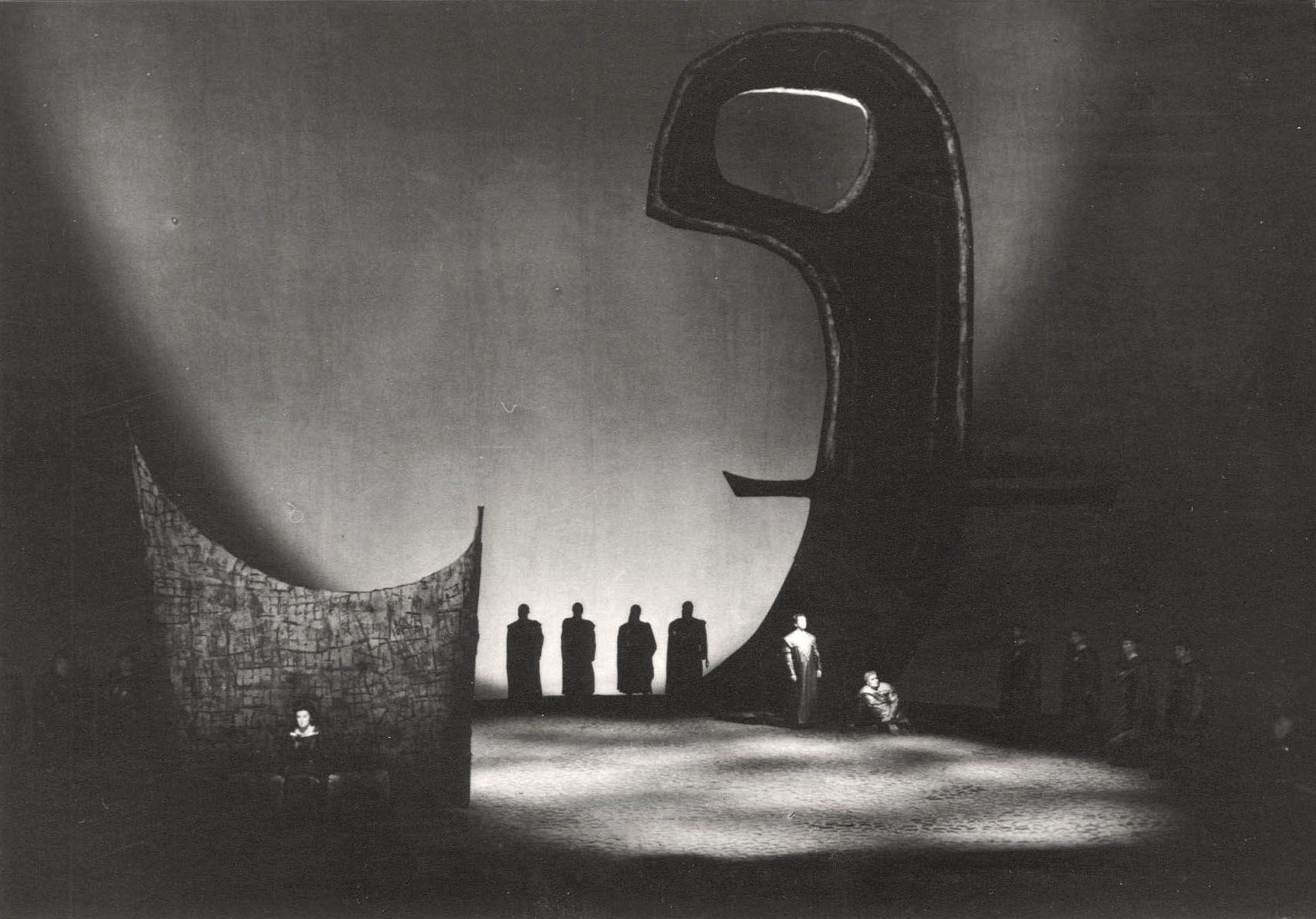 """Tristan und Isolde """" 1 Akt 1966 Wieland Wagner"""