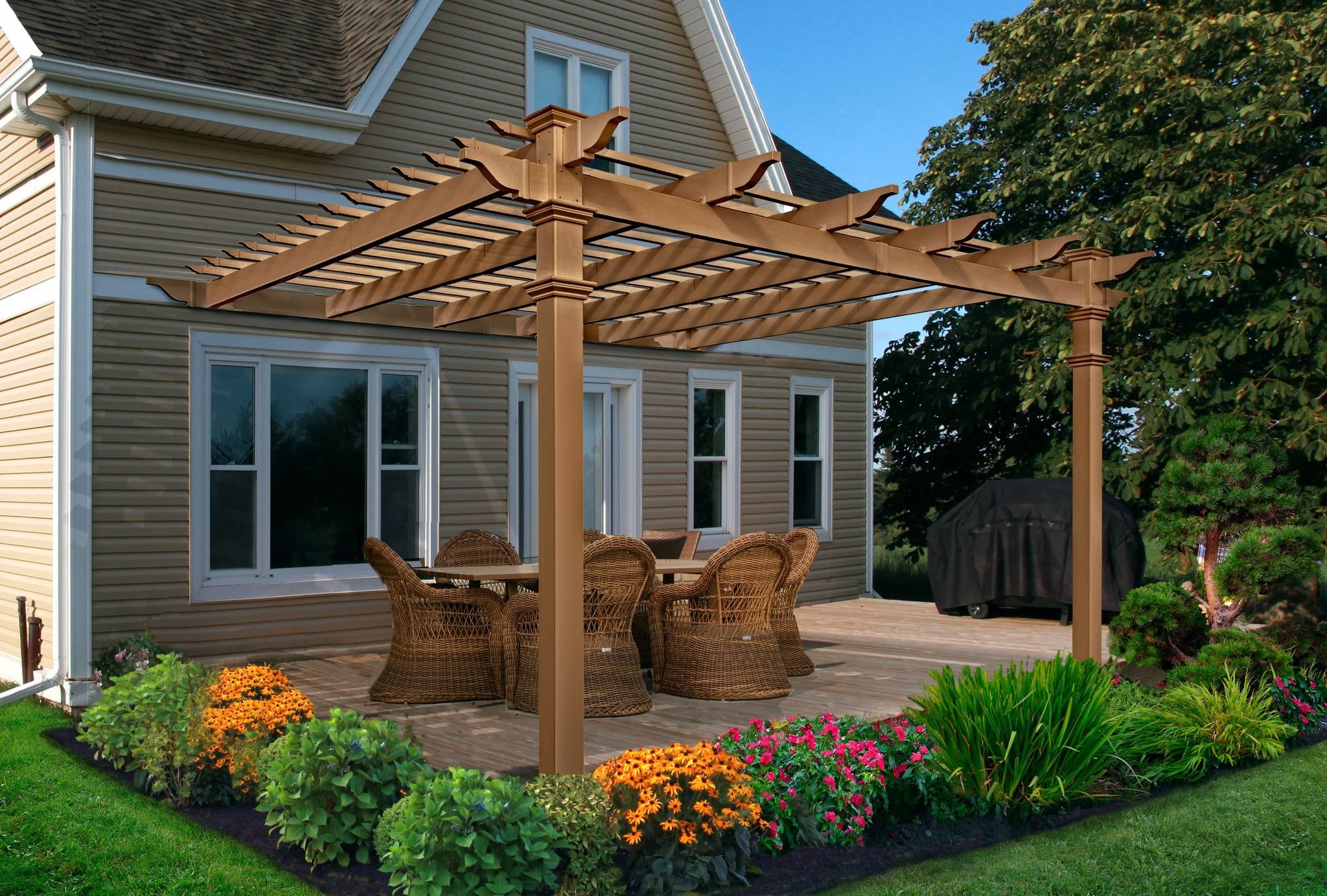 12x12 Kennedy Backyard Patio Designs Outdoor Pergola Patio Stones