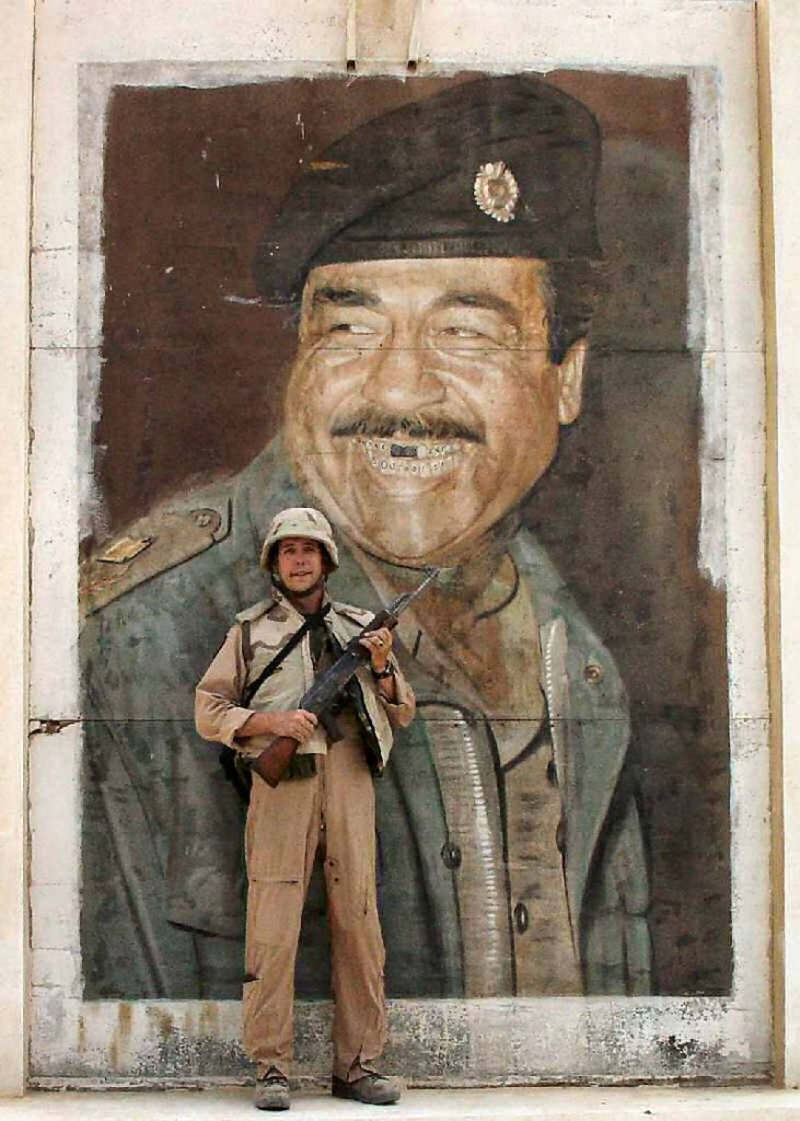 Saddam Has The Classic Hockey Smile Middle Two Teeth Knocked Out Operation Iraqi Freedom Classic Painting