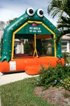Frog Bounce House Perfect And From At Partyjumpersinc Party