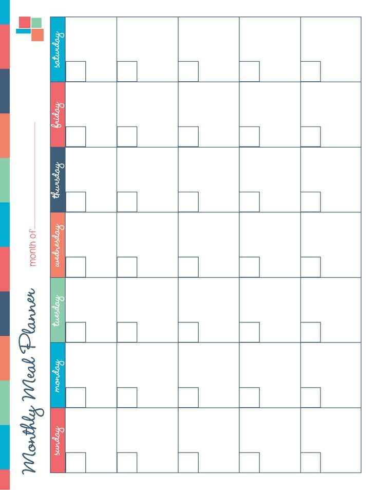 Free Printable Meal Planner Kitchen Set  Free Printable Meal