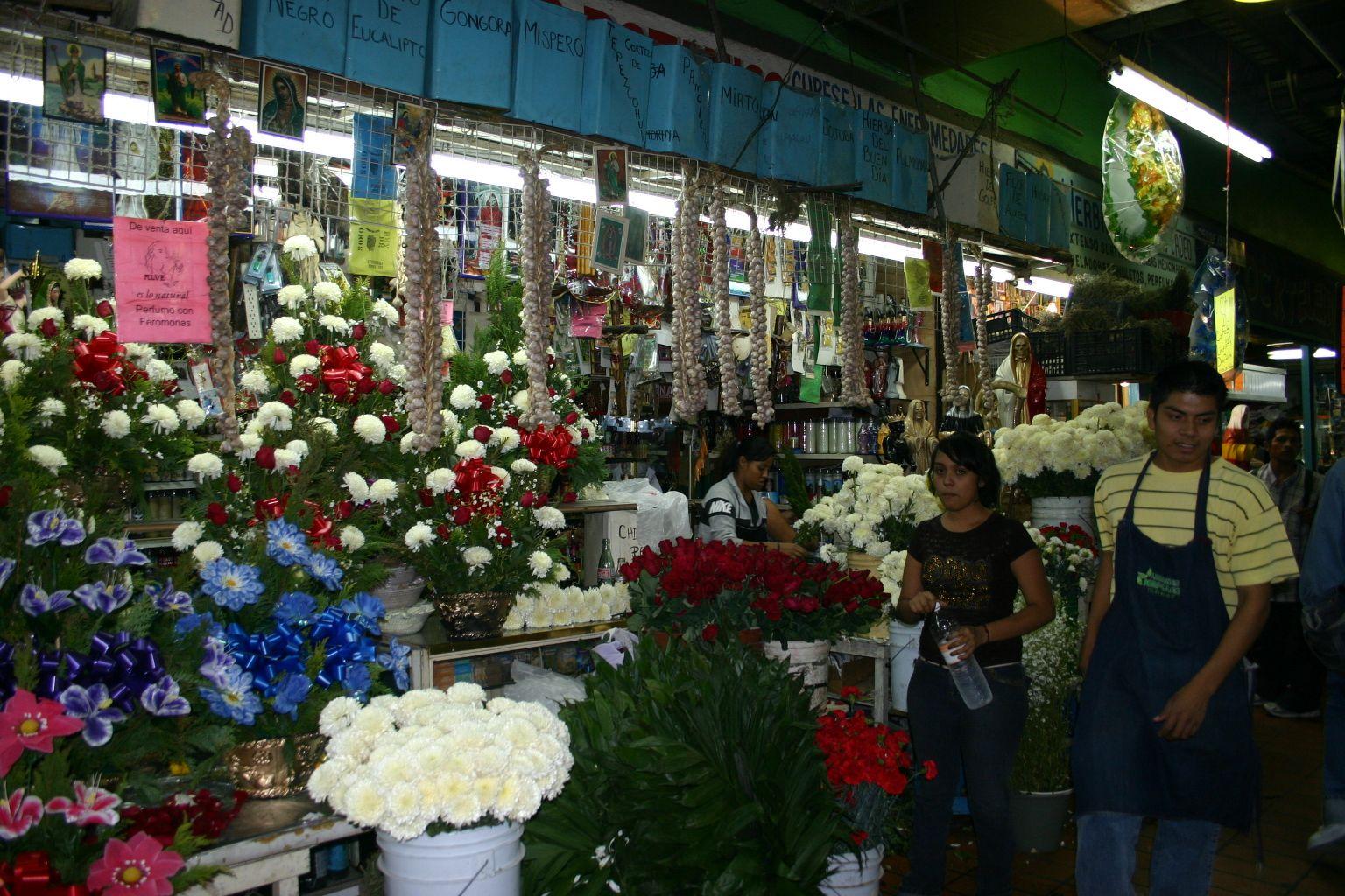 market stand at Mercado Juarez  downtown  Monterrey, Nuevo leon