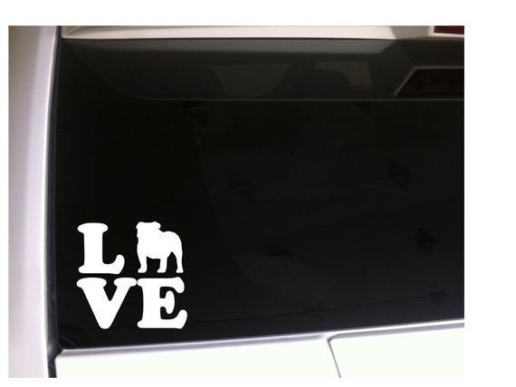 English Bulldog Tie Dye Art Vinyl Sticker Decal Car Truck Laptop Window SIZES