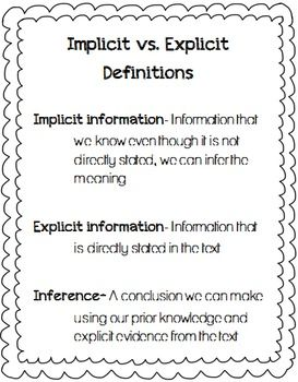 implicit support meaning