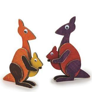 Kangaroo And Joey Too Craft Kit Craft Supplies Crafts Fun Arts