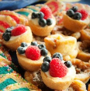 Berry Cream Cheese Tartlets
