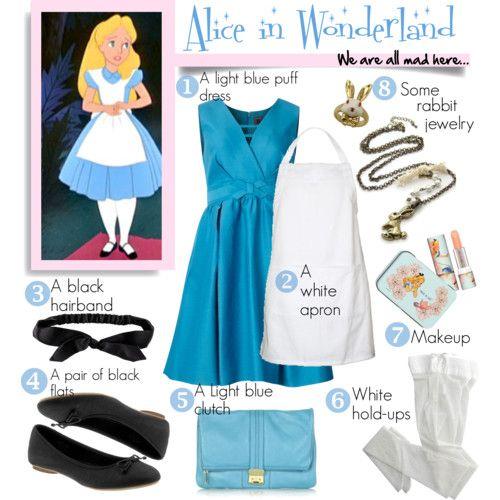 Diy Halloween Costume Alice In Wonderland Halloween Kostum