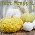 Yarn-wrapped pumpkins!! =)