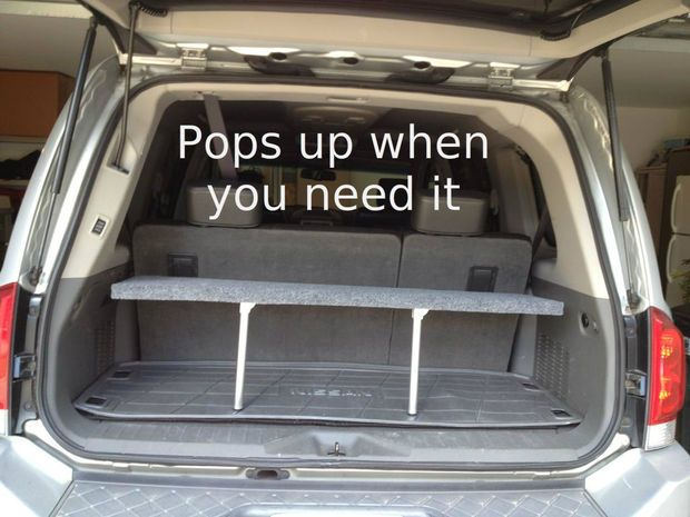 handy pop up trunk shelf diy trunk organization suv trunk rh pinterest com SUV Accessories Organizer SUV Cargo Accessories