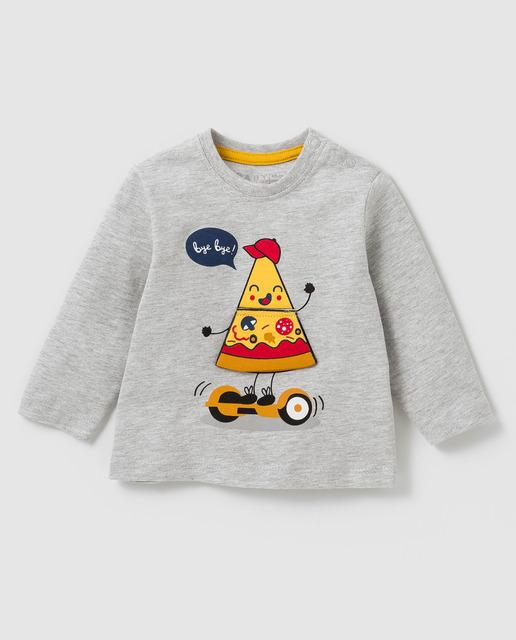 Camiseta de bebé niño Freestyle en gris con print