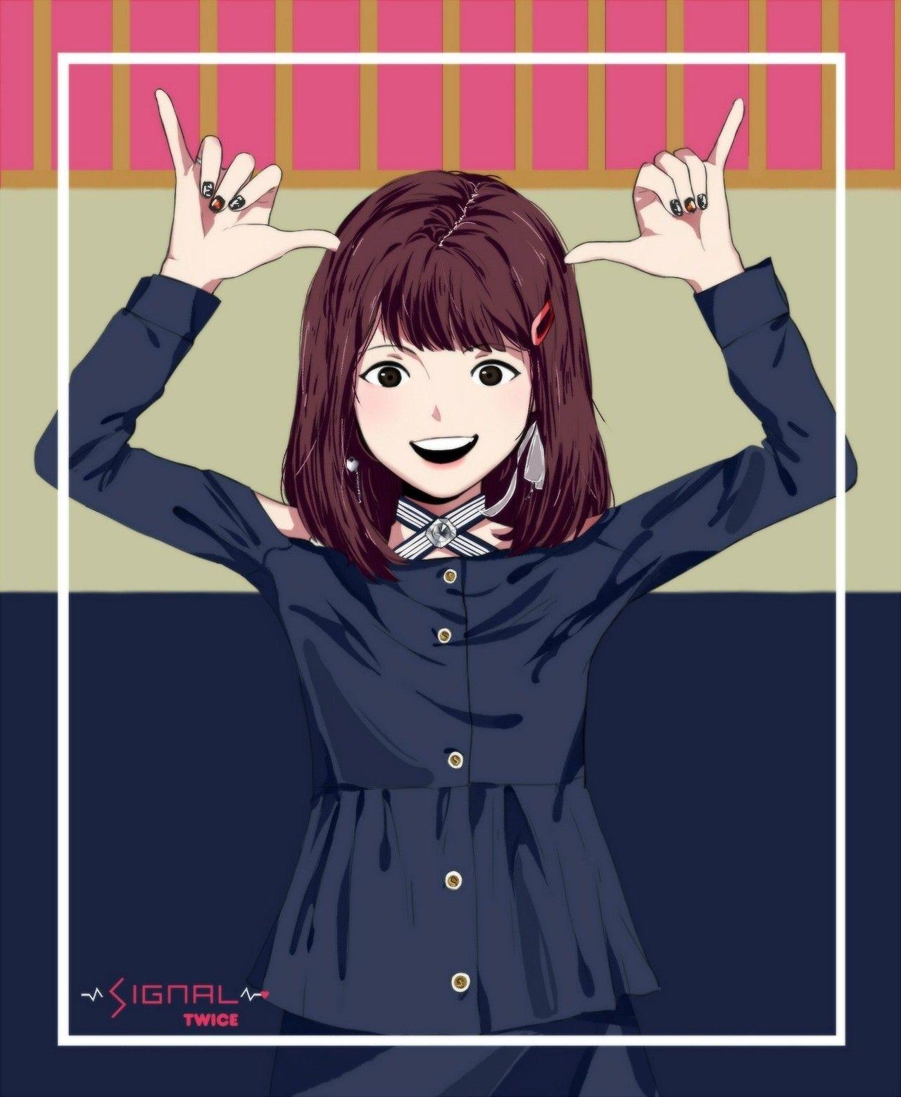 Momo (Twice member) Twice fanart, Fan art