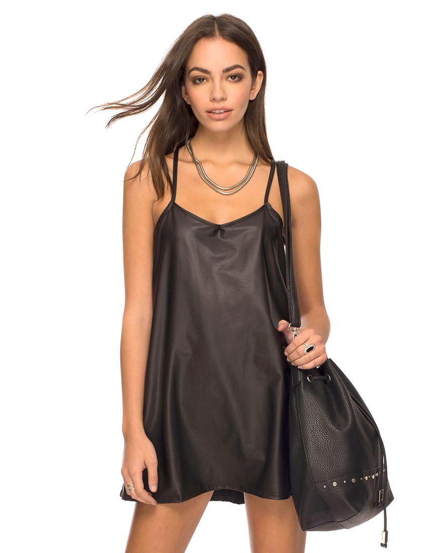 b2785cf2c20 Meadow Slip Dress in Liquid Ink Black by Motel at Motel Rocks - Motel Rocks