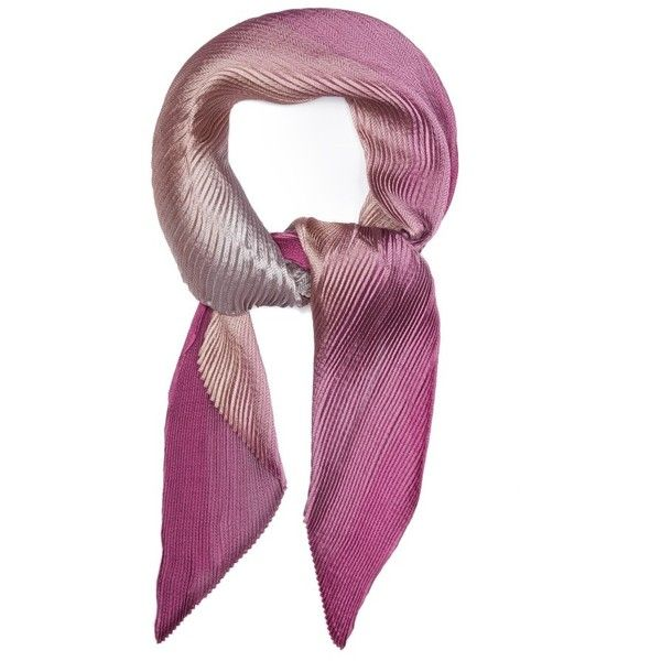 Women's Armani Collezioni Herringbone Plisse Scarf ($245) ❤ liked on Polyvore featuring accessories, scarves, fuchsia multi and armani collezioni