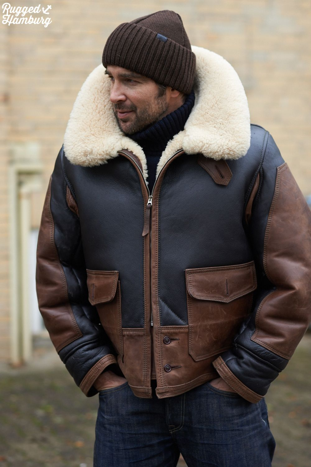 49579546d ruggedhamburg | Men Casuals | Sheepskin jacket, Jackets, Mens ...
