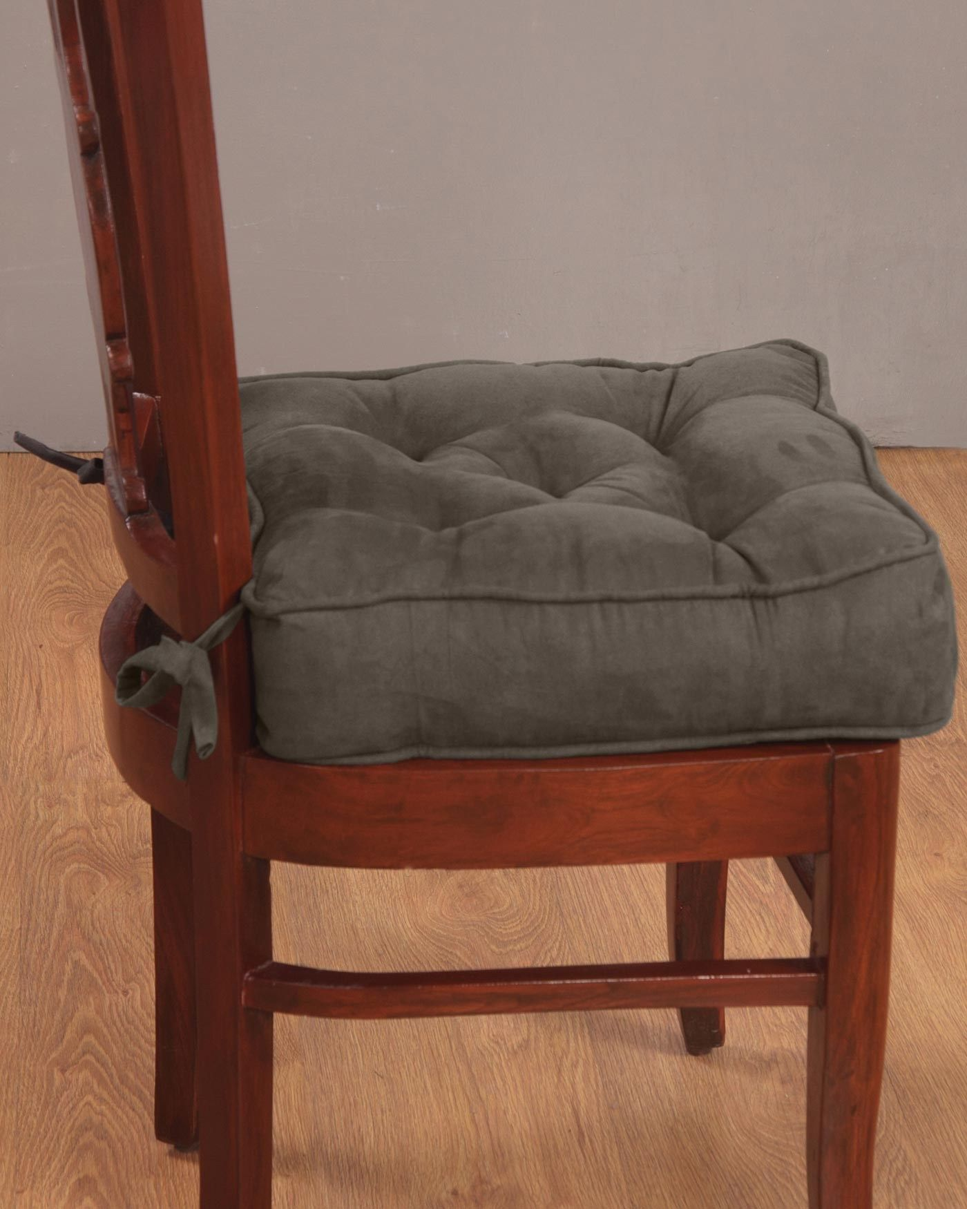 Dining Chair Booster Cushion In Faux Suede From Homescapes Has Been