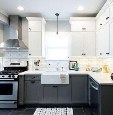 Trendy painting kitchen cabinets dark two tones 24 Ideas #darkkitchencabinets