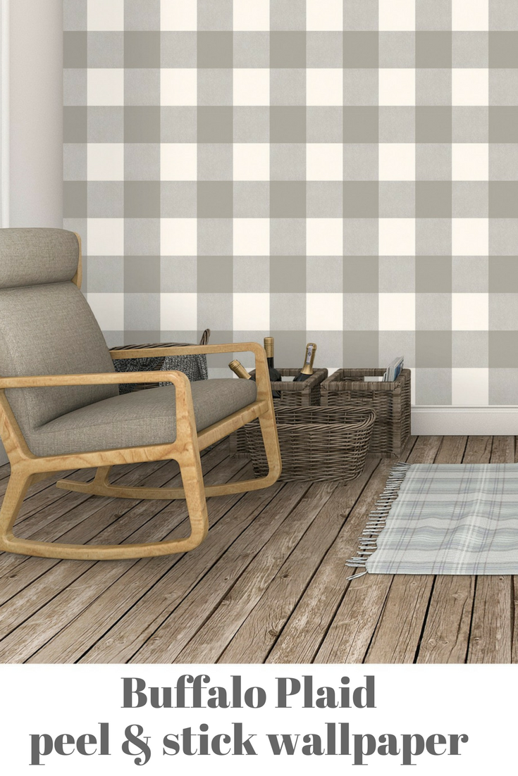 If you want to make an accent wall buffalo plaid, this peel and stick paper will make the job much easier than traditional wallpaper or trying to paint the ...