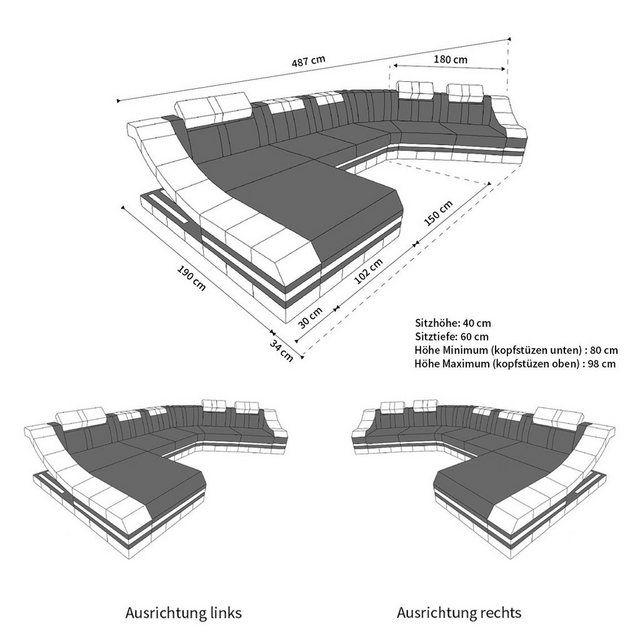 Sofa Dreams Wohnlandschaft »Turino«, CL Form | OTTO