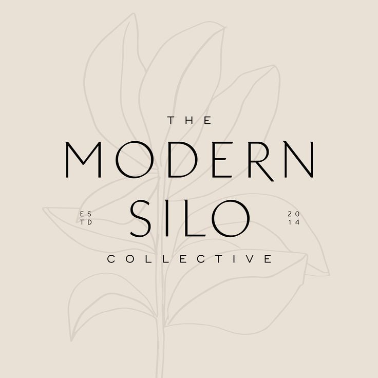 Photo of The Modern Silo Collective logo design with a farmhouse, artisan feel. They sell…