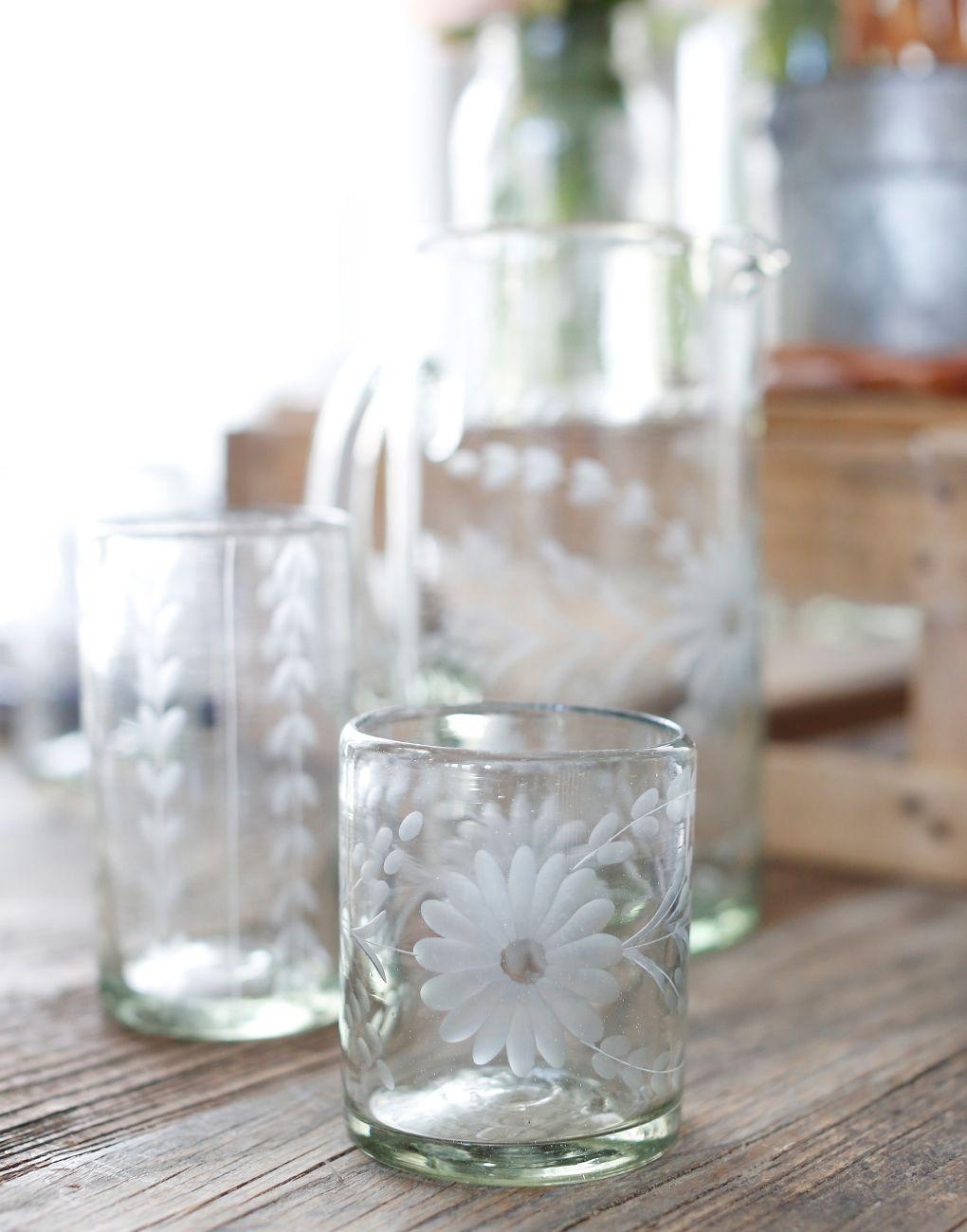 Short Mexican Flower Glass {The Little Market}