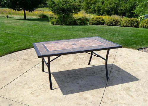 Backyard Creations Lasalle Rectangular Dining Patio Table At Menards Backyard Creations Reg Lasalle Rectangul Patio Table Backyard Creations Outdoor Tables