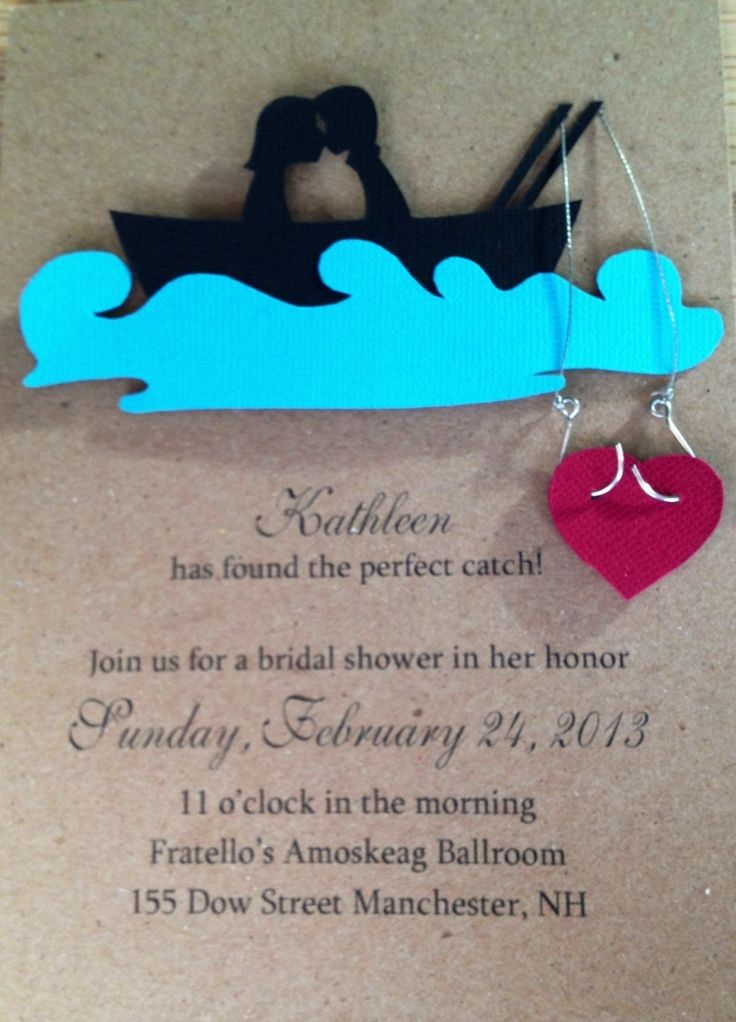 wedding shower invitations fishing Fishing theme