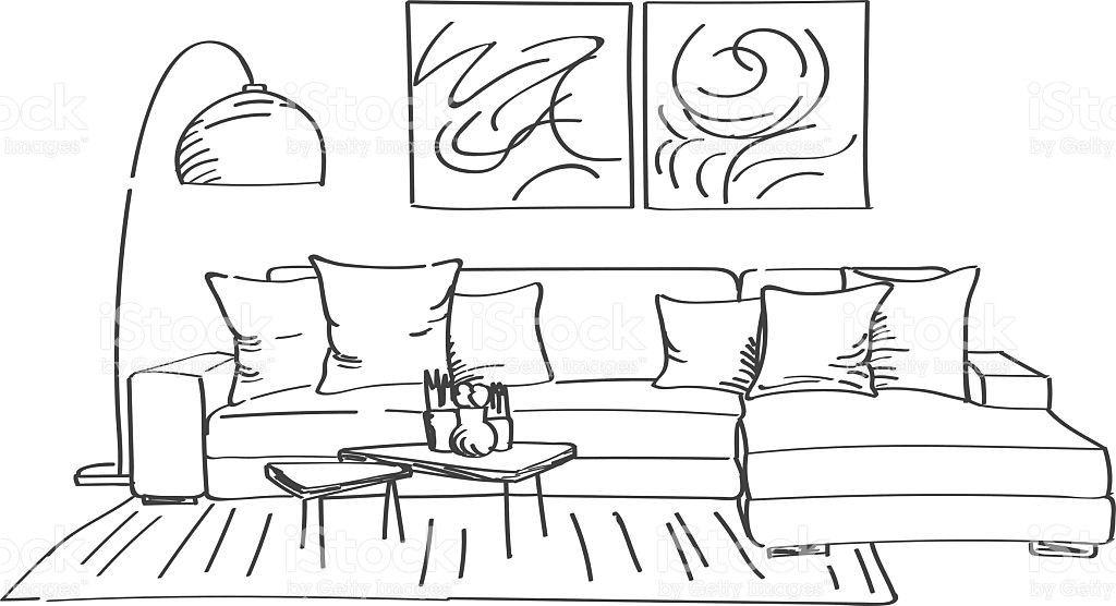 The Most Beautiful Living Room Architecture Sketch Freshouz Com Modern Living Room Interior Interior Design Sketchbook Interior Design Sketch