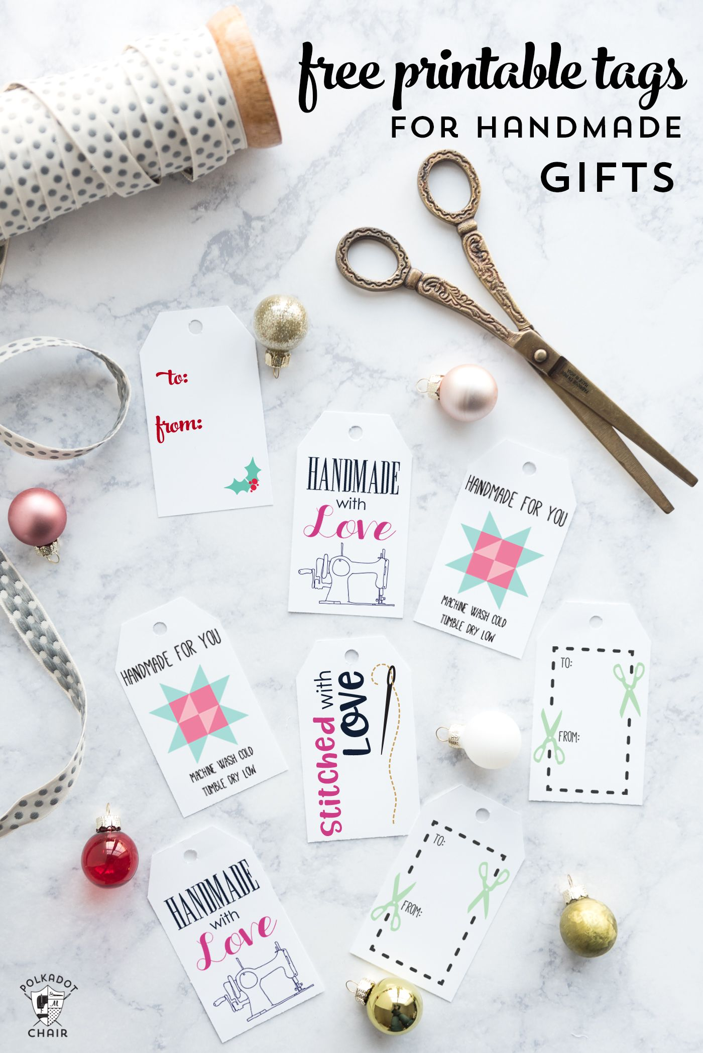 10+ Free Printable Gift Tags Perfect for Handmade Gifts | Gift Boxes ...
