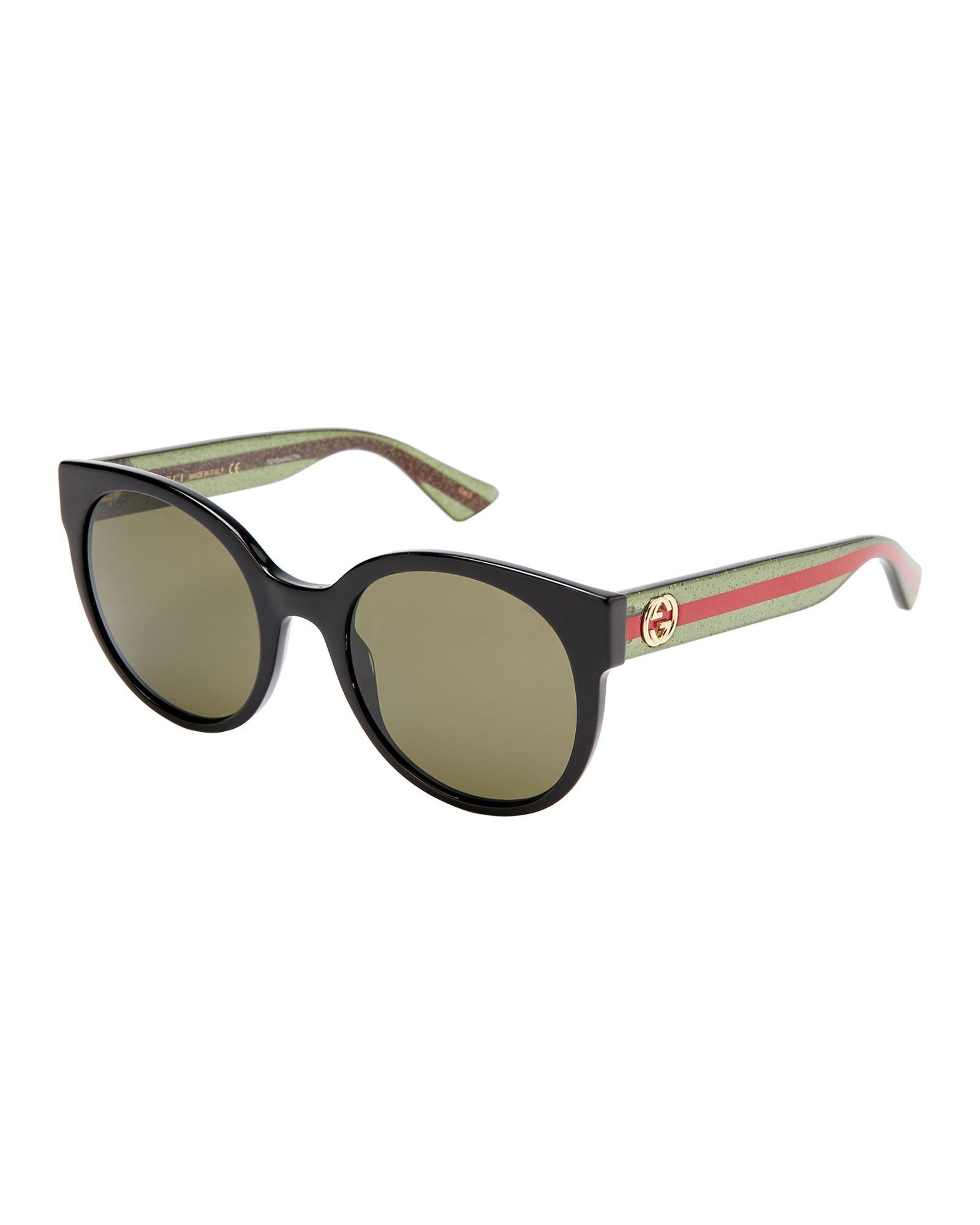 d440a46a22e Gucci GG 0035 S Black Round Sunglasses