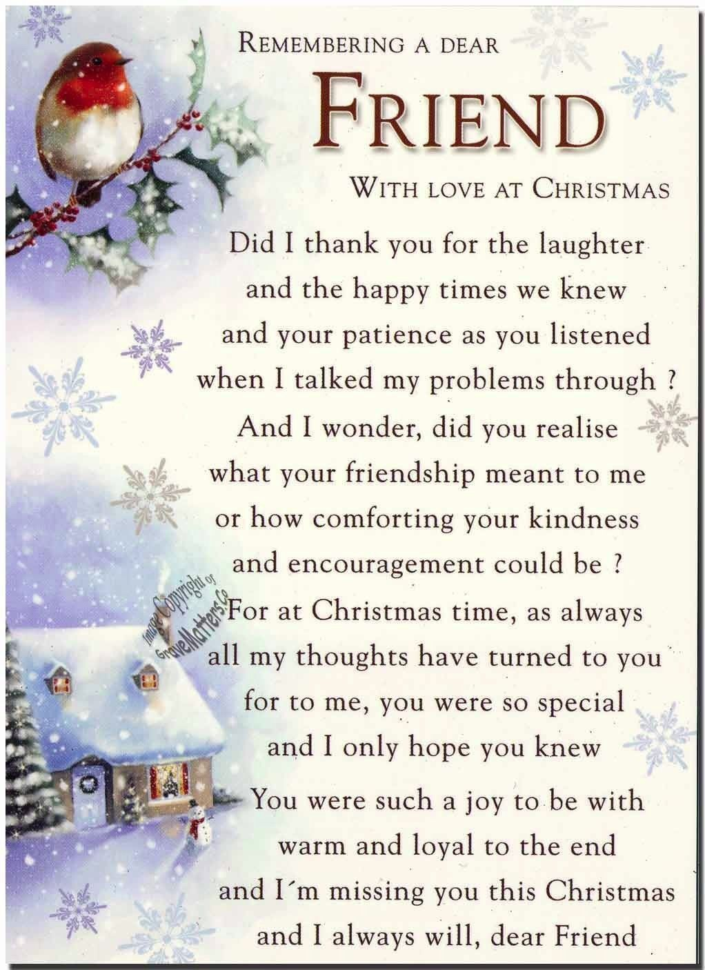 Remembering a special friend at christmas time christmas christmas remembering a special friend at christmas time christmas christmas quotes christmas quotes for family christmas quotes kristyandbryce Choice Image