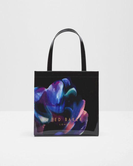 Cosmic Bloom small shopper bag - Black | Bags | Ted Baker UK