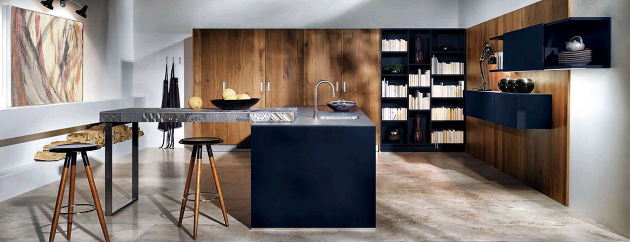exklusive designer k chen hochwertige elektroger te bei heider heinevetter wohnambiente k chen. Black Bedroom Furniture Sets. Home Design Ideas