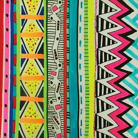 Aztec patterns | vivid-ayota-aztec-tribal-native-geometric-pattern-illustration-vasare ...