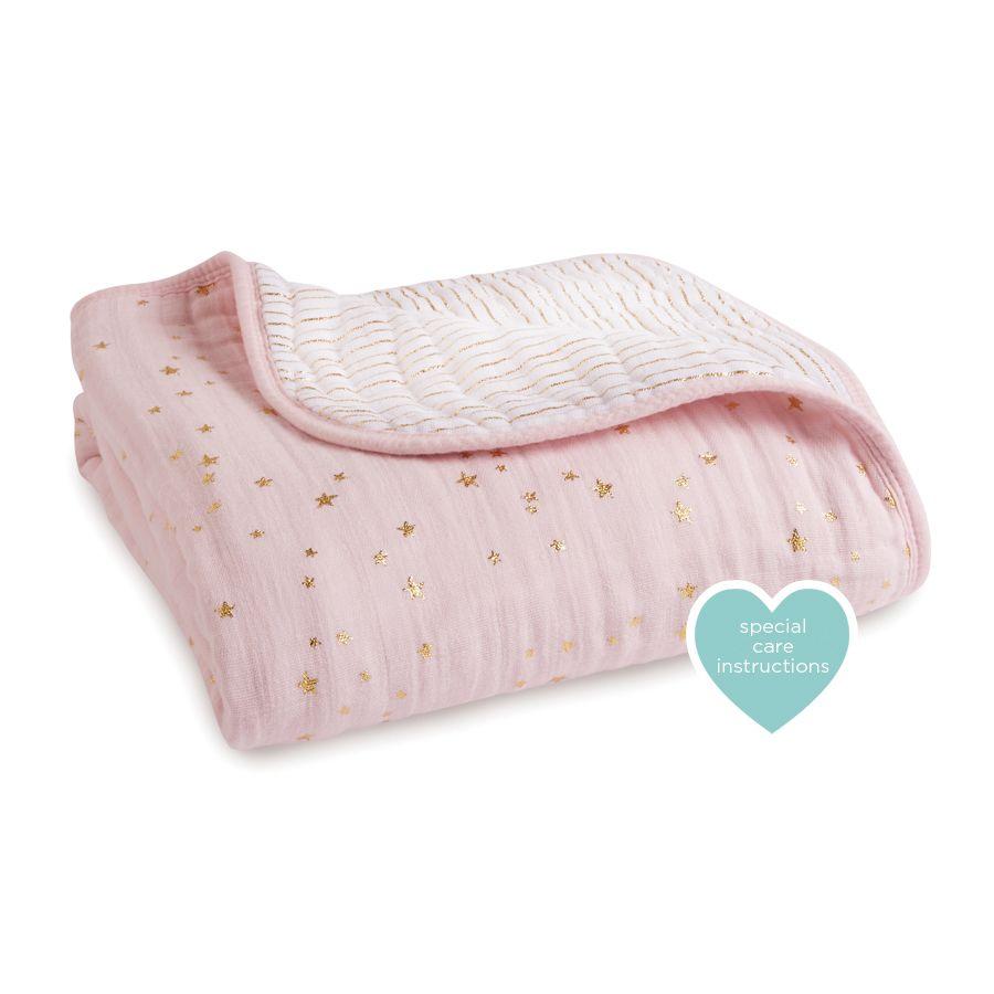 Classic Dream Blanket | Metallic Primrose | Baby Blankets | Muslin ...