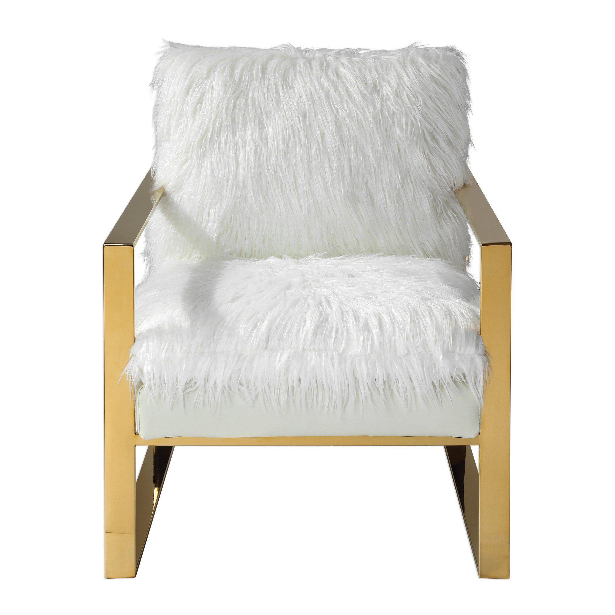 Uttermost 23438 Delphine White Accent Chair | Furniture & Decor ...